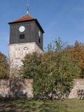 Lichterfelde-Kirche. The village Lichterfelde is located near Eberswalde in Brandenburg, northeast of Berlin. - here: stone church from the 13th century Royalty Free Stock Image