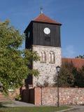 Lichterfelde-Kirchturm-Mauer Royalty Free Stock Photos