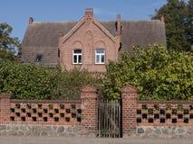 Lichterfelde-Pfarrei. The village Lichterfelde is located near Eberswalde in Brandenburg, northeast of Berlin. - here: manse Stock Photography