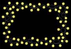 Lichterkette auf schwarzem Hintergrund vektor abbildung