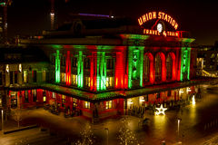 2015 Lichterkette an der Verbands-Station Denver Lizenzfreie Stockfotografie