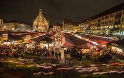 Lichterzug (Lantaarnoptocht) Kersttijd Nuremberg-Duitsland Stock Afbeelding
