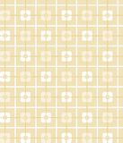 Lichtgeel, oker, geometrisch, naadloos patroon, vierkanten, achtergrond Stock Foto's