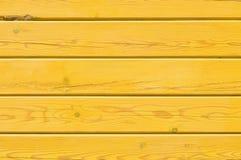 Lichtgele geschilderde houten textuur Lege achtergrond Royalty-vrije Stock Fotografie