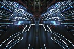 Lichtgeschwindigkeit, abstrakte Straße Lizenzfreie Stockfotos