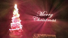 Lichtgevend Crystal Christmas Tree stock footage
