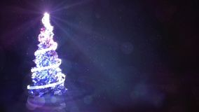 Lichtgevend Crystal Christmas Tree stock video