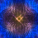 Lichtgevende achtergrond van het wervelings de blauwe neon Stock Afbeeldingen