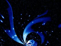 lichtgevende blauwe fantasie royalty-vrije illustratie