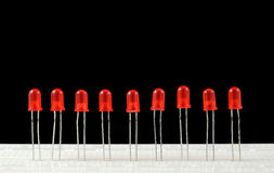 LEDs Royalty-vrije Stock Afbeeldingen