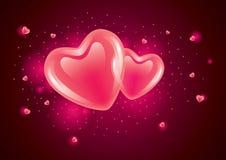 Lichtgevende harten Royalty-vrije Stock Afbeelding