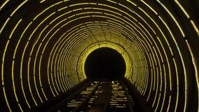 Lichtgevende tunnel stock fotografie