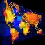 Lichtgevende wereldkaart Royalty-vrije Stock Foto