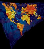 Lichtgevende wereldkaart Stock Fotografie