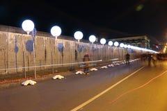 Lichtgrenze (mur léger) Images stock
