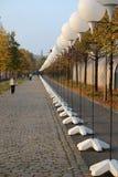 Lichtgrenze (mur léger) Photo stock