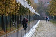 Lichtgrenze (mur léger) Image stock