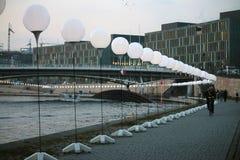 Lichtgrenze (pared ligera) Fotos de archivo libres de regalías