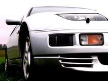 Lichtgrijze auto Stock Afbeelding
