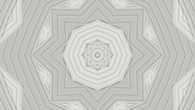 Lichtgrijze geanimeerde patronen Abstracte caleidoscoop 3d geef terug vector illustratie
