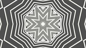 Lichtgrijze geanimeerde patronen Abstracte caleidoscoop 3d geef terug royalty-vrije illustratie