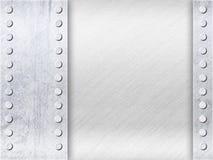 Lichtgrijze Oppervlakte met Lege Ruimte en Klinknagels Royalty-vrije Stock Afbeelding