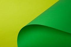 Lichtgroen en groen karton Stock Afbeeldingen