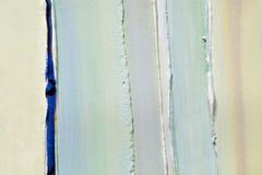 Lichtgroene stroken van dikke lagen van verf, pleister Stock Foto