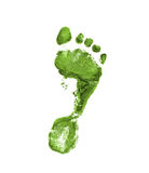 Lichtgroene voetafdruk Stock Foto
