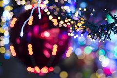 Lichthintergrund des Funkelns festlicher Weihnachts stockfoto