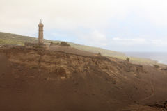 Lichtmast von Faial-Insel, Azoren lizenzfreie stockfotos