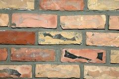 Lichtoranje van de gezichtsbakstenen muur textuur als achtergrond royalty-vrije stock foto's