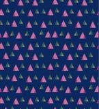 Lichtpaarse vector van kleine driehoeken op blauwe achtergrond Royalty-vrije Stock Afbeelding