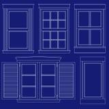 Lichtpausefensterabbildungen Lizenzfreie Stockbilder