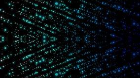 Lichtpunkte Digital unten knallen oben in der Vorwärtsrichtungseffektbewegung stock abbildung