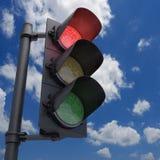 Lichtrood verkeer Stock Foto's