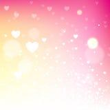 Lichtrose vage valentijnskaartachtergrond vector illustratie