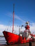 Lichtschip 2000 in de Baai van Cardiff, Wales royalty-vrije stock foto
