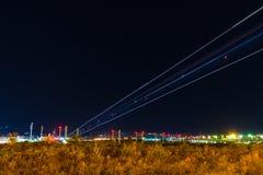Lichtspuren der Landungsfläche Lizenzfreie Stockfotografie