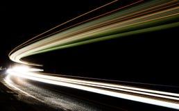 Lichtspuren im Tunnel Lizenzfreie Stockbilder