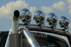 Lichtstrahl auf Kleintransporter Lizenzfreie Stockfotografie