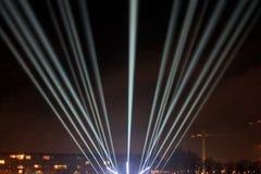 Lichtstrahlen auf der Promenade Lizenzfreies Stockfoto