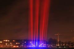 Lichtstrahlen auf der Promenade Stockfotos