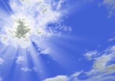 Lichtstrahlen der Sonne Lizenzfreies Stockbild
