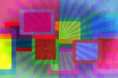 Lichtstrahlen, Vierecke grunge Hintergrund. Lizenzfreie Stockfotografie
