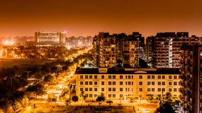 Lichtverschmutzung Delhi stockfotografie