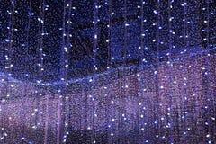 Lichtvorhang am Feiertag Lizenzfreies Stockfoto
