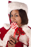 Licking candy Royalty Free Stock Photo