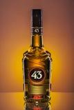 Licor 43 på lutningbakgrund Royaltyfri Foto