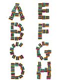 Licorice All Sorts Alphabet A - H Royalty Free Stock Images